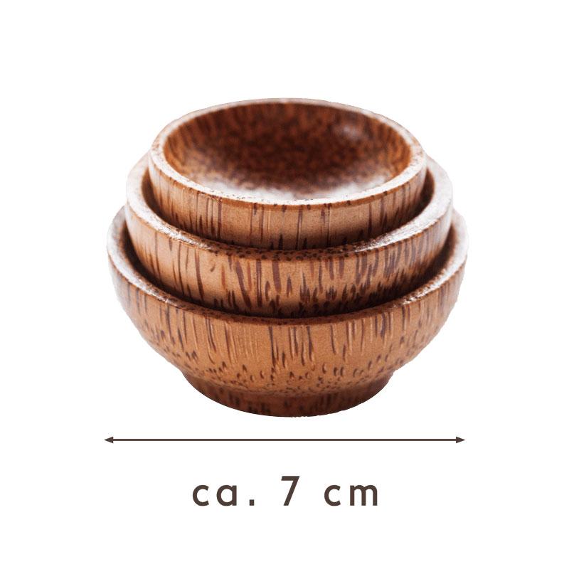 JANUR handgemachte Kokosholzschalen